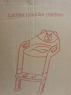 Children Toilet Seat & Ladder Toddler Training Step Up Easy Fold Down For Kids • 10.80£