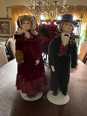 $ CDN45.73 • Buy Two Beautiful Victorian Porcelain Boy And  Girl Dolls