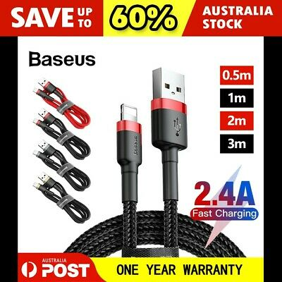 AU11.45 • Buy Baseus Cafule Data Cable Fast Charging Charger Cord For IPhone IPad 0.5/1/2/3M