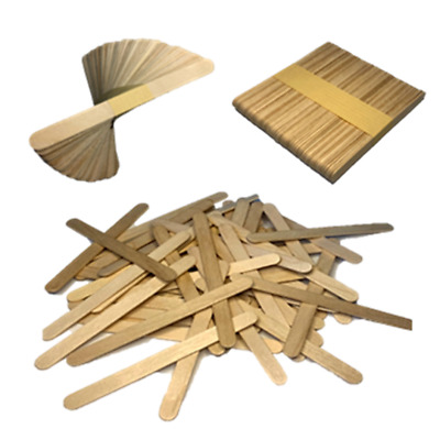 Natural Wood Lolly Sticks 114mm Ice Pops Lollipops Craft DIY Wooden Candy Handle • 1.49£