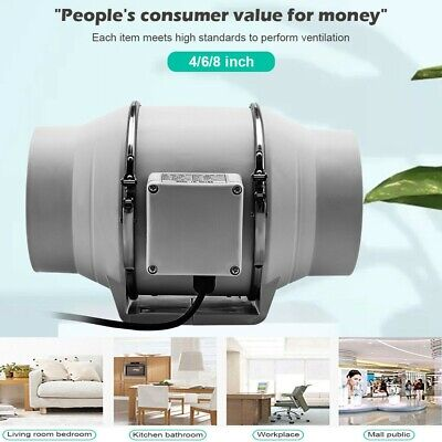 AU36.88 • Buy 4/6/8 Inch Silent Extractor Fan Duct Hydroponic Inline Exhaust Industrial Vent