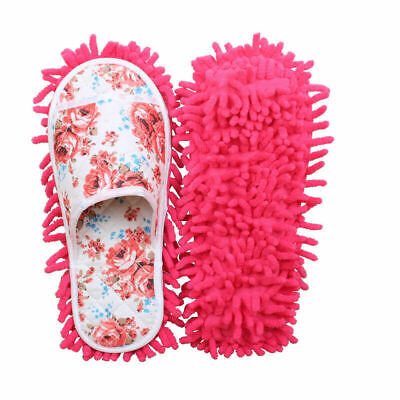 Women Dust Mop Slippers Shoes Microfiber House Slippers Bedroom Cleaning Pad • 6.89£