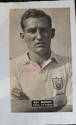 Signed 1950s Roy Bentley Fulham FC Football Autograph Book Chelsea FC England • 7.99£