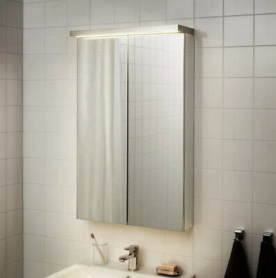 Ikea GODMORGON - Led Bathroom Cabinet/wall Lighting, Silver 70cm • 22£