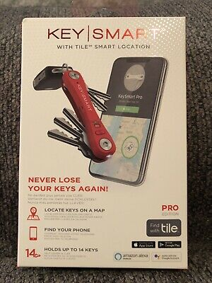 KeySmart Pro Ks411r Compact Key Organizer With Tile Smart Location Technology RE • 37.54£