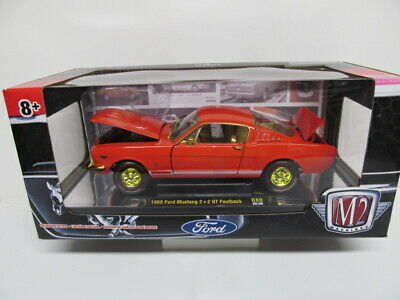 $40 • Buy  M2 FORD  - CHASE 1/24th Scale - Red '65 FORD MUSTANG 2 + 2 FASTBACK  - CHASE