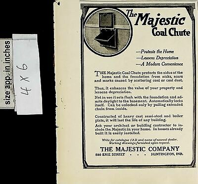 $9.97 • Buy 1919 Majestic Coal Chute Protects The Home Vintage Print Ad 6218