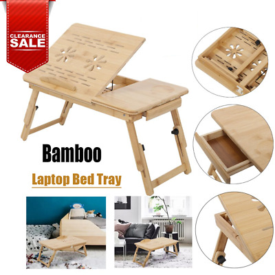 £12.99 • Buy Bamboo Portable Folding Legs Laptop Notebook Table Bed Sofa Tray PC Desk Stand