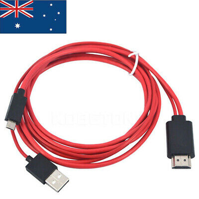 AU13.67 • Buy MHL 11 Pin Micro USB To HDMI 1080P HD TV Cable Adapter For Android Samsung Phone