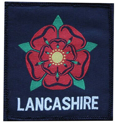 Lancashire Red Rose County Woven 3  Embroidered Badge Patch Sew/Iron On • 2.99£
