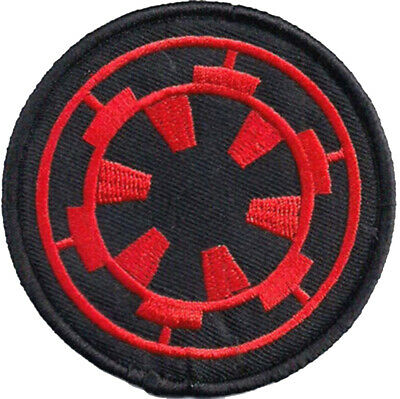 Star Wars Imperial Cog Patch 7.5cm Embroidered Badge Sew/Iron On Hook-Loop • 3.99£