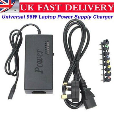 Universal 96W Laptop Power Supply Charger 12V-24V AC/DC Adapter For Laptop PC • 10.95£