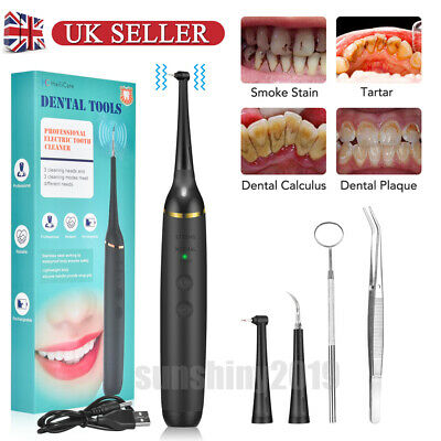Electric Sonic Scaler Plaque Tartar Calculus Remover Tooth Stains Dental • 16.88£