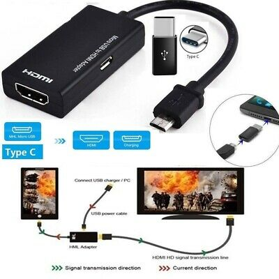AU12.82 • Buy Micro USB To HDMI MHL Adapter Cable Converter For Smart Mobile Phone 1080P New