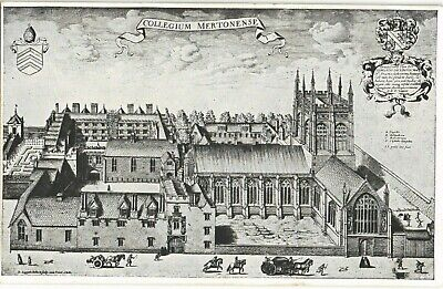 Oxford. Merton College By H.W.Taunt. Old Print/Engraving Postcard. • 8£