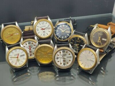 $ CDN299.22 • Buy LOT OF 10 Pcs AUTOMATIC CITIZEN VINTAGE JAPAN MEN'S WATCH IN WORKING CONDITION