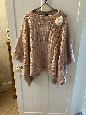 Pink Poncho One Size By Powder Very Unique • 10£