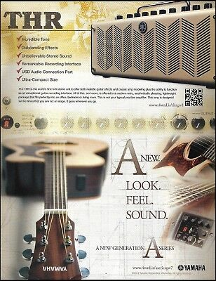 Yamaha A Series Acoustic Guitar & The THR Amp 2012 Advertisement 8 X 11 Ad Print • 3.03£
