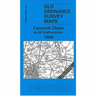 Cannock Chase And SE Staffordshire (Old O.S. Maps Of En - Map NEW - 2001-01-29 • 5.49£