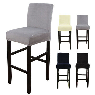 AU12.99 • Buy Elastic Bar Stool Cover Wedding Dining Chair Seat Cover Stretch Banquet Party