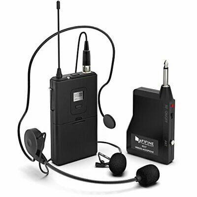 Wireless Microphone System/Set With Headset & Lavalier Lapel, 40-65ft Range • 72.22£