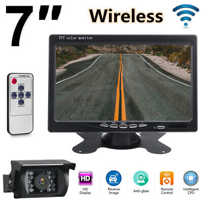 AU73.14 • Buy Wireless CCD Reversing Camera + 7  LCD Monitor Car Rear View Kit For Bus Truck