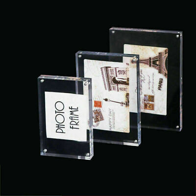 £14.87 • Buy Frameless Clear Acrylic Photo Picture Stand Frame Plate Plexiglass  A4 A5 A6