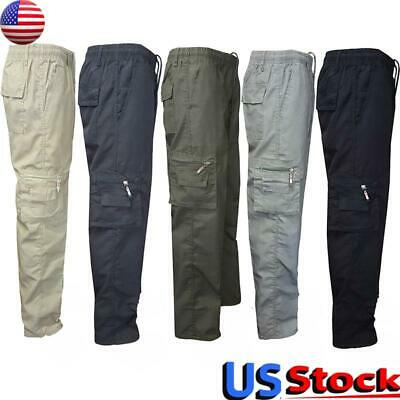 $34.29 • Buy Men's Cargo Pants Military Tactical Army Combat Trousers Casual Pockets Pants US