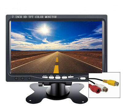 AU44.99 • Buy 7 Inch TFT LCD Color Car Rear View Headrest Monitor For Car Reversing Camera AU