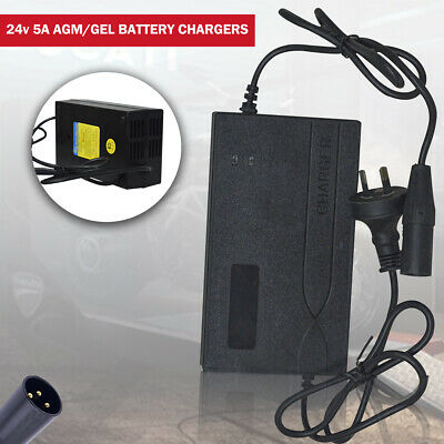AU41.99 • Buy 24v 5A REPLACEMENT HP8204B MOBILITY SCOOTER WHEELCHAIR BATTERY CHARGER