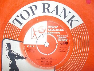 M- Uk  Top Rank 45- The Shirelles-  Baby It's You  /  The Things I Want To Hear  • 9.49£