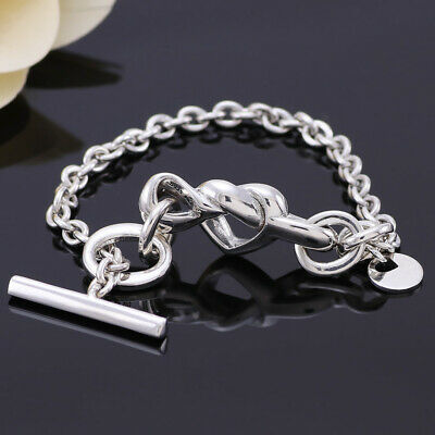 UK New Pandora Knotted Heart T-bar Bracelet In Pandora Pouch 16/18/20cm • 37.19£