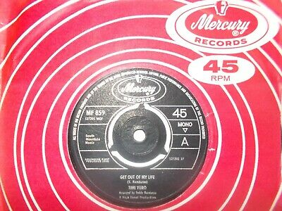 Mint Uk  Mercury 45- Timi Yuro-  Get Out Of My Life  /  Can't Stop Running Away  • 4.99£