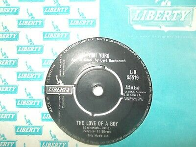 Ex Uk  Liberty 45 - Timi Yuro-  The Love Of A Boy  /  I Ain't Gonna Cry No More  • 8.50£