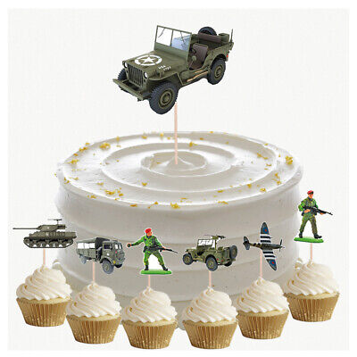 £4.99 • Buy Army Military Birthday Cupcake & Party Food Toppers Decorations Picks 14 Pack