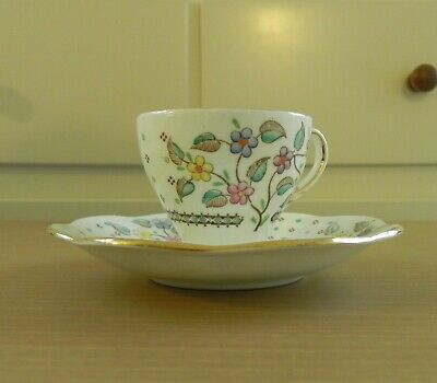 Vintage  Foley English Bone China  Coffee / Demitasse Cup & Saucer E Brain • 9.99£