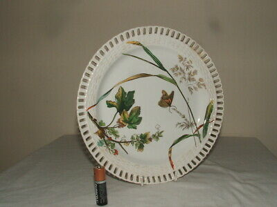 Mintons Joseph Smith  Aesthetic Flowers & Butterfly Ribbon Cabinet Plate Rare   • 9.99£