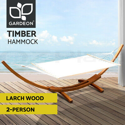 AU309.95 • Buy Gardeon Outdoor Furniture Lounge Double Hammock Bed Garden Timber Heartwood
