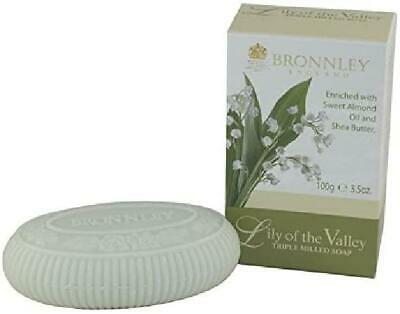 Bronnley Lily Of The Valley Triple Milled Fine English Soap 100g • 6.49£