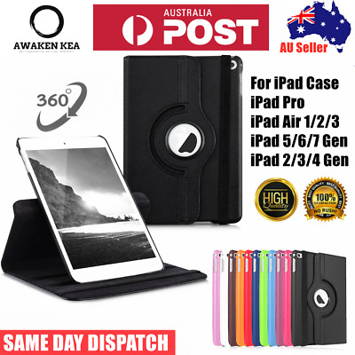 AU12.95 • Buy Smart Leather Case Cover Shockproof 360° Rotate For Apple IPad Pro Air 1 2 3 Gen