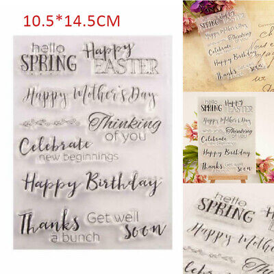 Happy Birthday - Easter Silicone Clear Stamp DIY Scrapbook Album Paper Card Gift • 2.15£