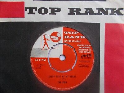 Ex  Uk  Top Rank  45 - The Pips-  Every Beat Of My Heart  /  Room In Your Heart  • 5.19£