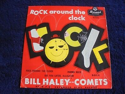 Bill Haley And His Comets - Rock Around The Clock 1957 UK EP BRUNSWICK • 3.99£