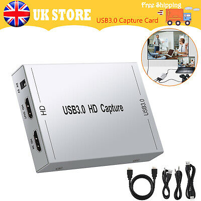 HDMI Game Capture Card USB3.0 60fps 1080P 60HZ Record Video/Game Live Streaming • 68.64£