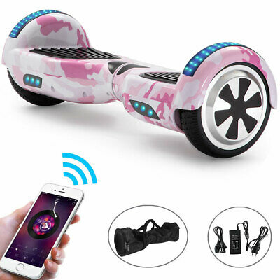 View Details Electric Scooters Pink Camo 6.5 Inch Kids Hoverboard Bluetooth LED Balance Board • 129.00£
