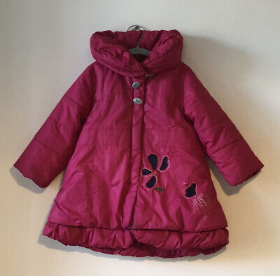 Cerise Marese Girls Knee Length Quilted Winter Coat - Age 3yrs • 3.50£