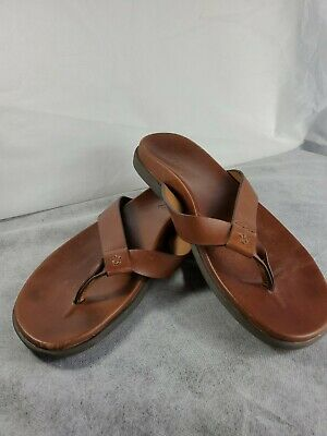 Vionic Wave Brown Leather Toe Post Sandals Mens 9 • 17.92£