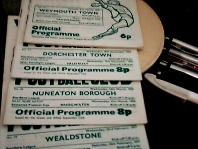 4 Assorted Yeovil Town Home Programmes 74/75 To 76/77 • 1.99£