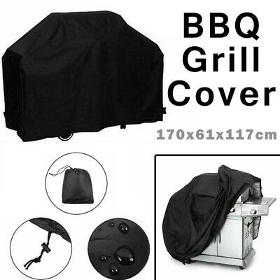 AU17.68 • Buy 4 Burner Outdoor BBQ Grill Cover UV Waterproof Gas Charcoal Barbecue Protector