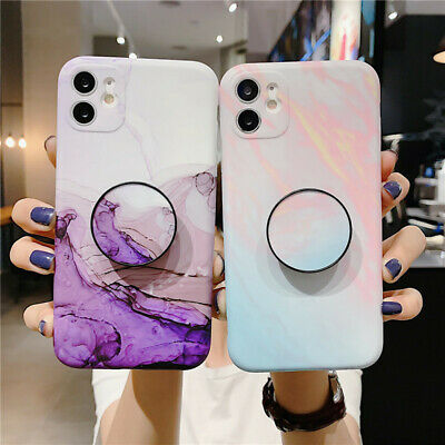 AU9.89 • Buy Marble Soft TPU Case With Holder Phone Cover For IPhone 11 XR 7 8 SE 2020 XS MAX